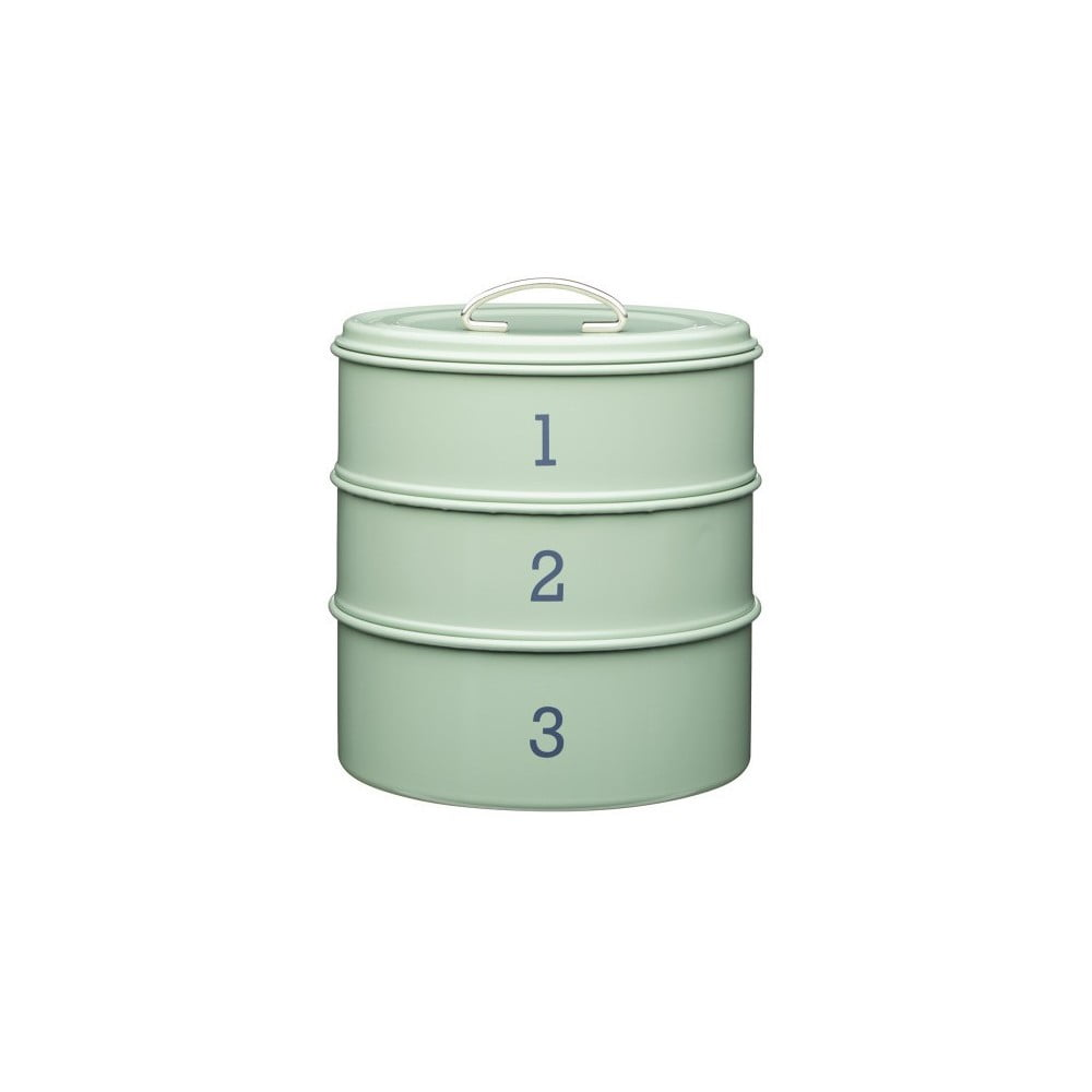3dílná plechová dóza v zelené barvě Kitchen Craft Nostalgia