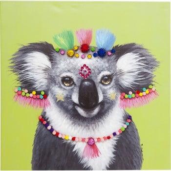 Tablou Kare Design Koala Pom Pom, 70 x 70 cm