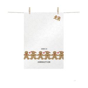 Bavlněná kuchyňská utěrka s vánočním motivem PPD Cookie Connection, 48 x 68 cm