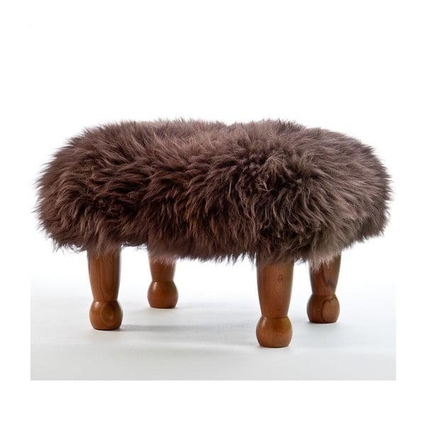 Stolička z ovčí kůže Anwen Mink