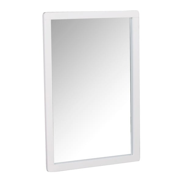 Oglindă cu ramă din lemn de stejar Folke Gorgona, alb