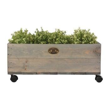 Cutie din lemn de pin pe roți Esschert Design, lățime 59cm imagine