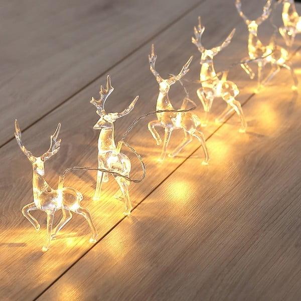 Ghirlanda luminoasă în formă de reni DecoKing Deer, lungime 1,65 m