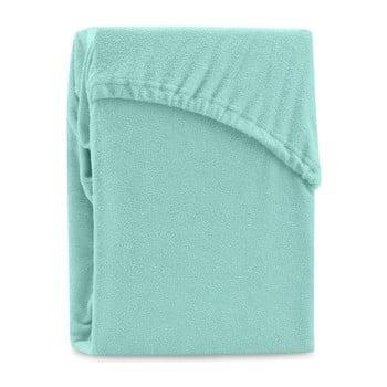 Cearșaf elastic pentru pat dublu AmeliaHome Ruby Peppermint, 220-240 x 220 cm, verde