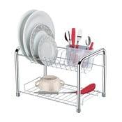 Dvoupatrový odkapávač na nádobí Future Drainer