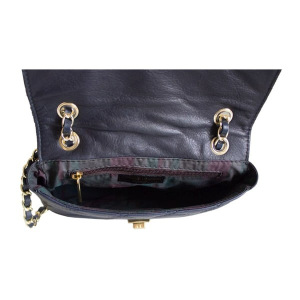 Kožená kabelka Valentina Navy