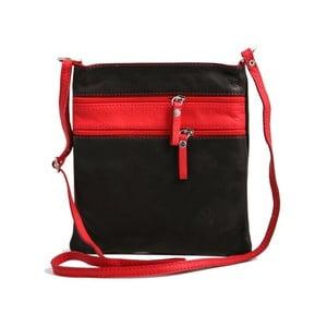 Černá-červená kabelka z pravé kůže GIANRO' Wull