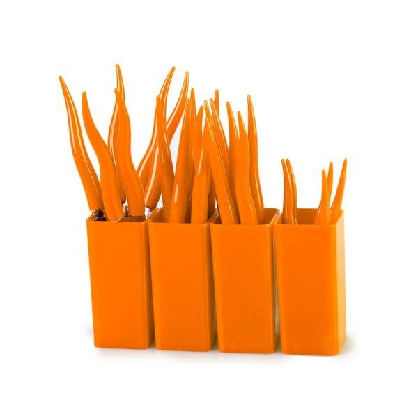 Sada příborů Tullio oranžová, 24 ks
