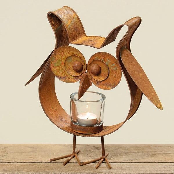 Svícen Bronze Owl