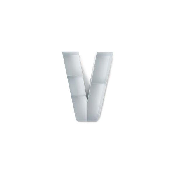 Nástěnná polička ve tvaru písmene V Tomasucci