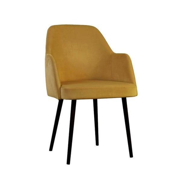 Hořčicová jídelní židle JohnsonStyle Lagom MV