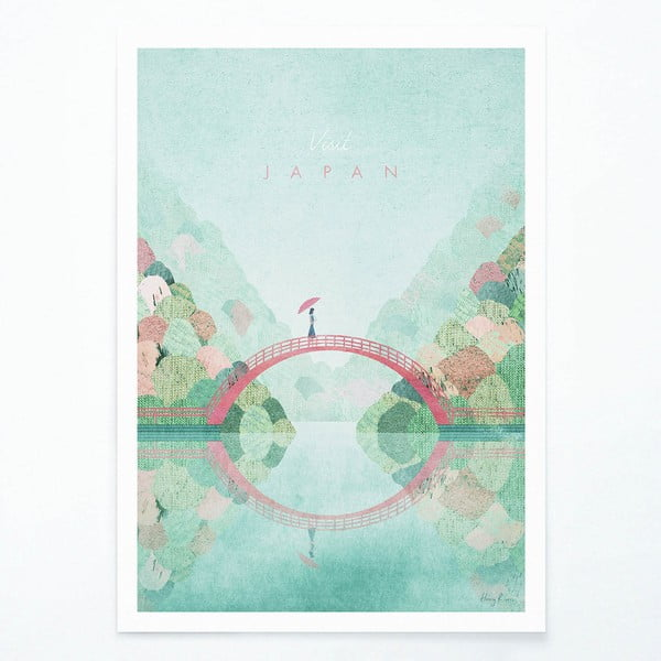 Plagát Travelposter Japan II, A3