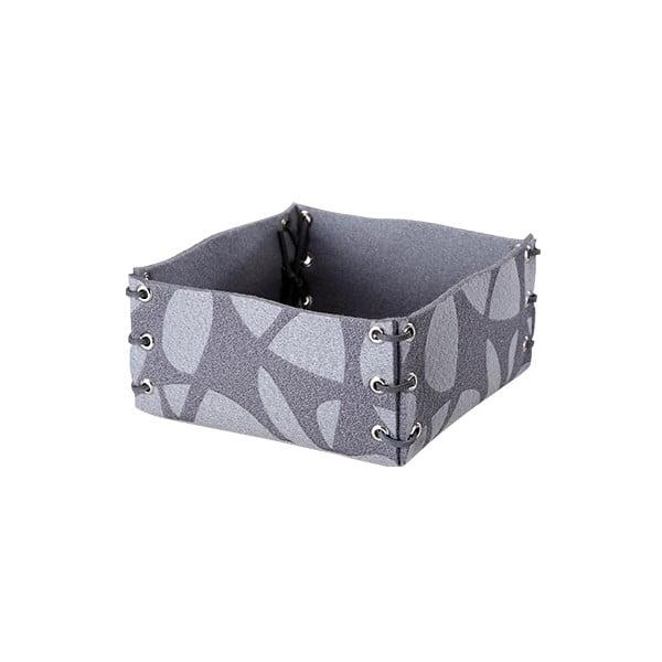 Plstěná krabička 25x10 cm, šedá
