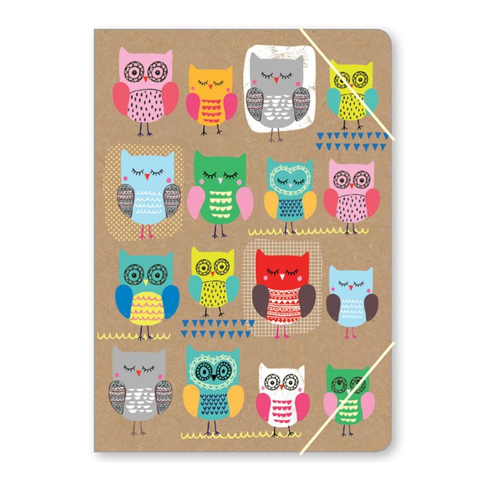 Složka na dokumenty A4 GO Stationery Owls