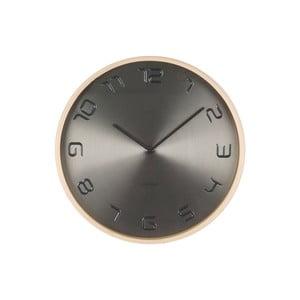 Šedé hodiny Present Time Bent