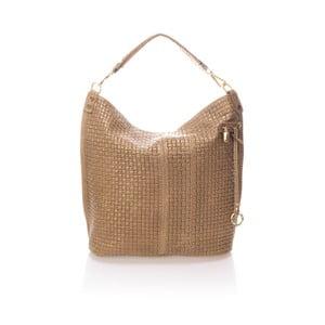 Béžová kožená kabelka Giorgio Costa Parma