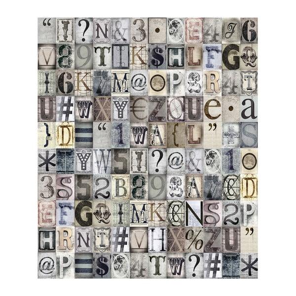 Role tapety Typografie, 53x1005 cm