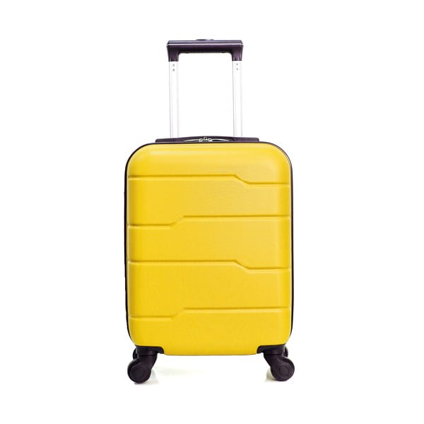 Žltý cestovný kufor na kolieskach Hero Santiago, 30l