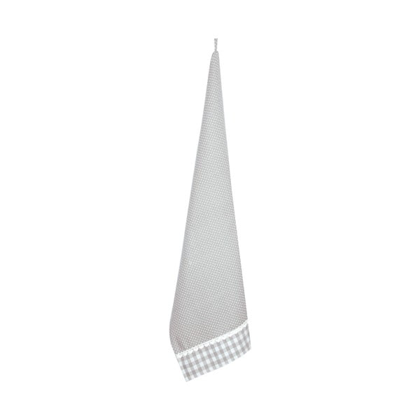 Kuchyňská utěrka Basic Hearts 50x85 cm, šedá