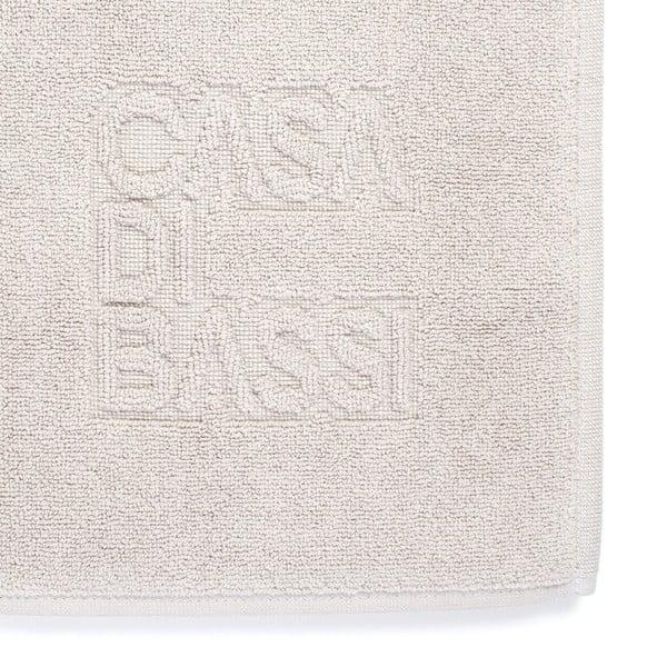 Krémová bavlněná koupelnová předložka Casa Di Bassi Basic,50x70cm