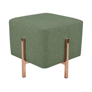 Zelená stolička s nohami v měděné barvě Vivorum Liani