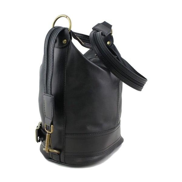 Kožená kabelka Crisana Nero