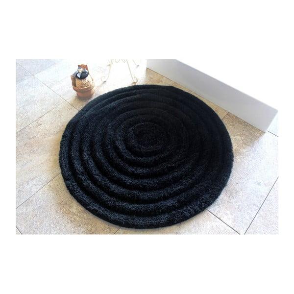 Koupelnová předložka Round Black, ⌀ 90 cm