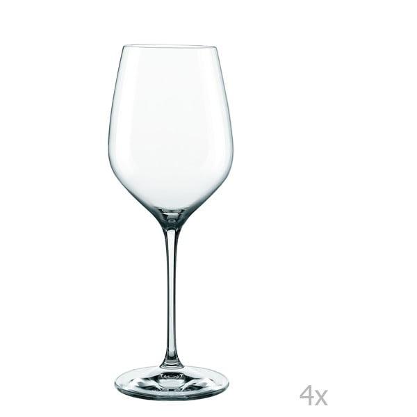 Sada 4 pohárov z krištáľového skla Nachtmann Supreme Bordeau×, 810 ml
