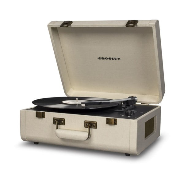 Jasnokremowy gramofon Crosley Portfolio Cream