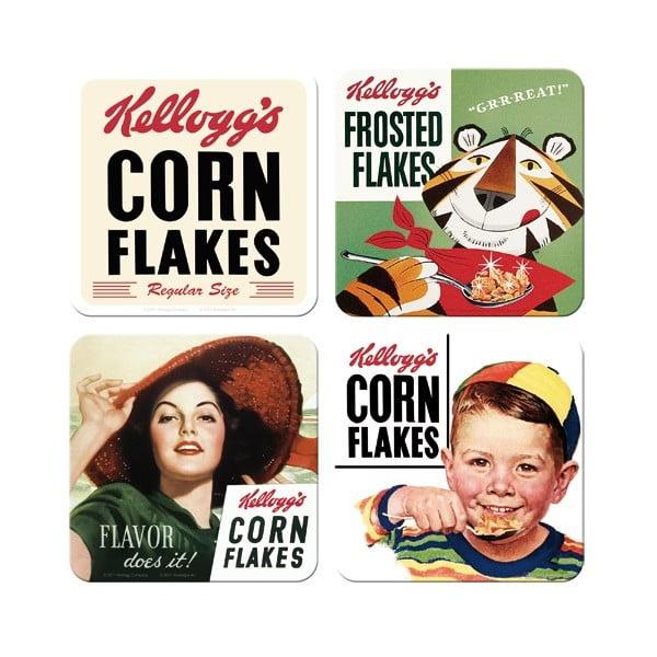 Sada 4 podtácků Postershop Corn Flakes