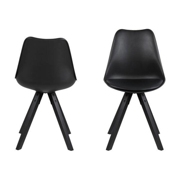 Sada 2 černých jídelních židlí Actona Damia