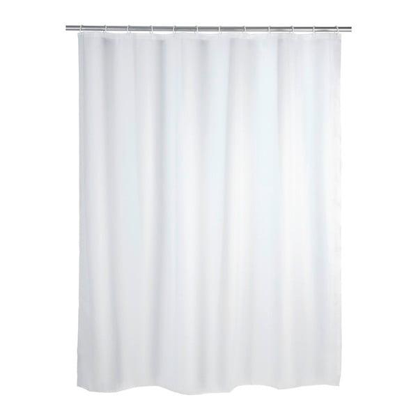 Biely sprchový záves Wenko Simpler, 180 x 200 cm