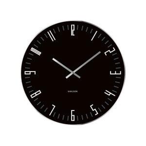 Ceas de perete Present Time XL Slim, negru
