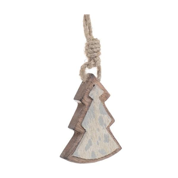 Vánoční dřevěná závěsná dekorace ve tvaru stromku InArt Paul