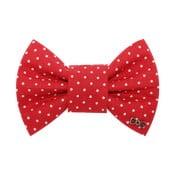 Červený charitativní psí motýlek s malými puntíky Funky Dog Bow Ties, vel. S