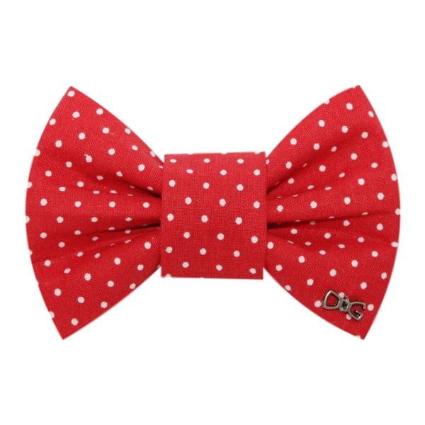 Červený charitativní psí motýlek s malými puntíky Funky Dog Bow Ties, vel. M