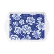 Podnos Ashdene Indigo Blue Roses, délka21cm