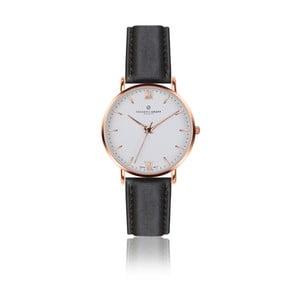 Pánské hodinky s černým páskem z pravé kůže Frederic Graff Rose Dent Blanche Black Leather