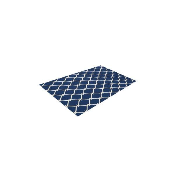 Vlněný koberec Kilim Belinda Dark Blue, 155x240 cm