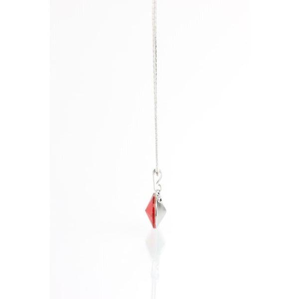 Červený náhrdelník se Swarovski krystaly Yasmine Longie