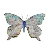 Kovový motýl na zeď, 36 cm