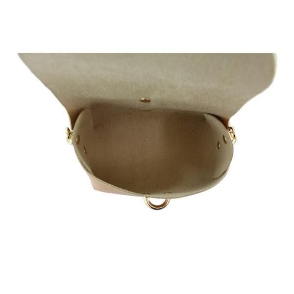 Karamelová kožená kabelka Loira