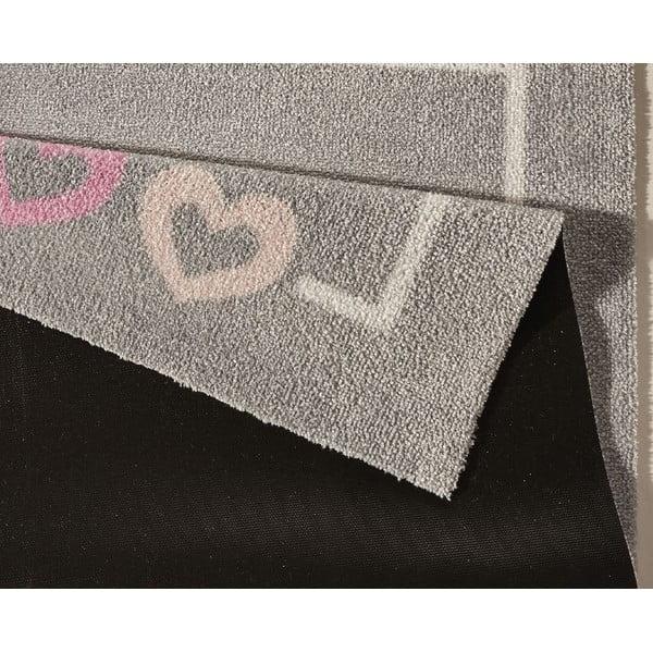 Dětský šedý koberec Zala Living Crown, 100x100cm
