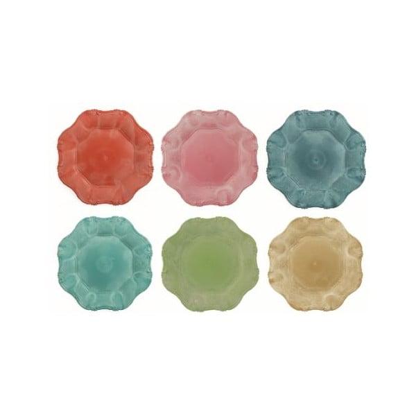 Colori 6 db-os színes tányérkészlet, ø 33 cm - Villa d'Este
