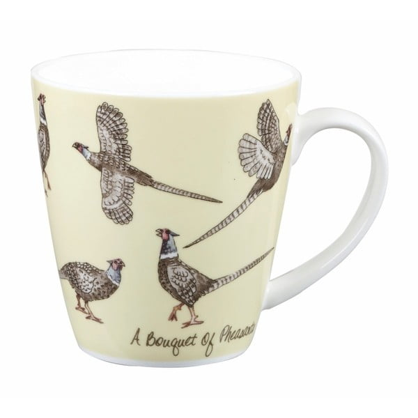Hrnek z kostního porcelánu Churchill Crowd Cherry Pheasants, 360 ml
