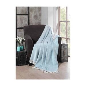 Mentolová bavlněná deka Commo,130x170cm