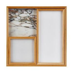 Sada 3 mramorových podnosů White Holz