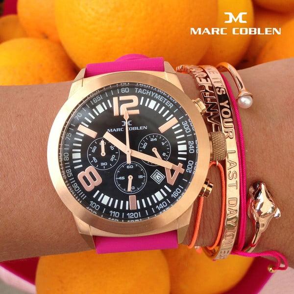 Dámské hodinky Marc Coblen s páskem a kroužkem navíc P32