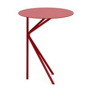 Červený příruční stolek MEME Design Twin