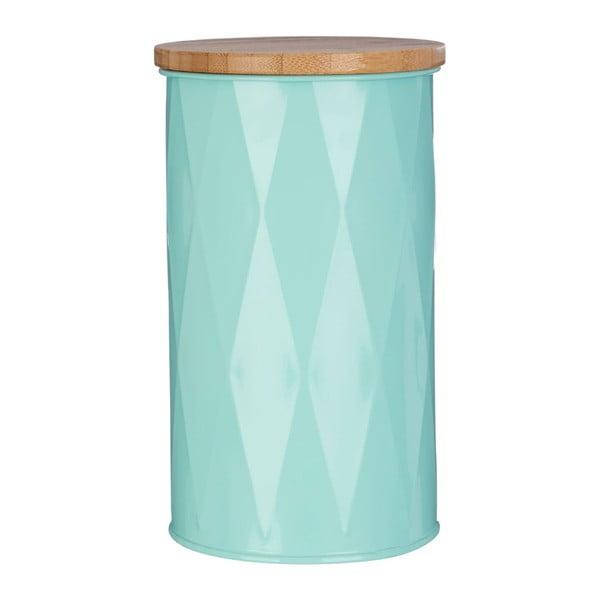 Střední tyrkysová dóza s bambusovým víčkem Premier Housewares Canister
